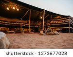 arabian traditional tent is an... | Shutterstock . vector #1273677028