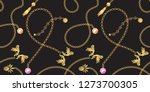 chain gold baroque pendants... | Shutterstock .eps vector #1273700305