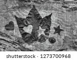 autumn leaf with heart and... | Shutterstock . vector #1273700968