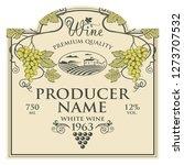vintage label for wine bottles...   Shutterstock .eps vector #1273707532