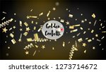 modern realistic gold tinsel... | Shutterstock .eps vector #1273714672