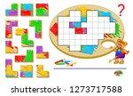 logic puzzle game for children... | Shutterstock .eps vector #1273717588