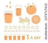 vector juicy orange citrus... | Shutterstock .eps vector #1273717612