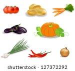vector vegetables set | Shutterstock .eps vector #127372292