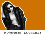 collage of young woman in...   Shutterstock . vector #1273723615