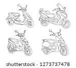 morotbike black line vector... | Shutterstock .eps vector #1273737478