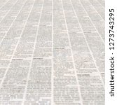 newspaper with old unreadable... | Shutterstock . vector #1273743295