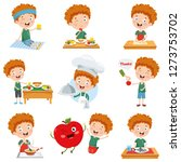 vector illustration of cartoon... | Shutterstock .eps vector #1273753702