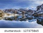 lake ercina  lagos de covadonga ... | Shutterstock . vector #127375865