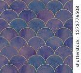 mermaid fish scale wave... | Shutterstock . vector #1273776508