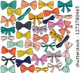 ribbon bow colored | Shutterstock .eps vector #1273780465