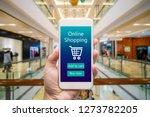 smart phone online shopping in... | Shutterstock . vector #1273782205