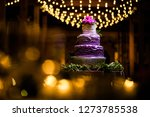 wedding cake at reception | Shutterstock . vector #1273785538