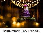 wedding cake at reception | Shutterstock . vector #1273785538