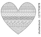 line art drawing in hearted... | Shutterstock .eps vector #1273793878