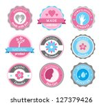 beauty and cosmetics badges | Shutterstock .eps vector #127379426