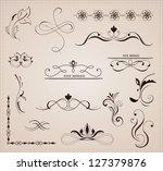 calligraphic design elements... | Shutterstock .eps vector #127379876