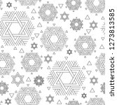 vector seamless repeat pattern...   Shutterstock .eps vector #1273813585