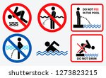 set of prohibition in the pool  ... | Shutterstock .eps vector #1273823215