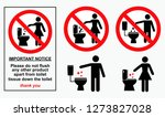 set of sanitary signs. easy to... | Shutterstock .eps vector #1273827028