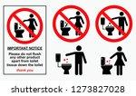 set of sanitary signs. eps 10...   Shutterstock .eps vector #1273827028
