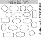vintage frames double black and ... | Shutterstock .eps vector #1273831378