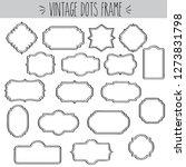 decorative vintage clear frames ... | Shutterstock .eps vector #1273831798