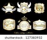 Vintage Retro Golden Labels...