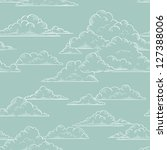 clouds seamless pattern hand... | Shutterstock .eps vector #127388006