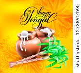 happy pongal 2019 greeting card ... | Shutterstock . vector #1273891498
