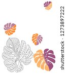 vector tropical pattern with... | Shutterstock .eps vector #1273897222