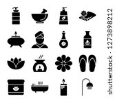 spa icons pack. isolated... | Shutterstock .eps vector #1273898212