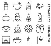 spa icons pack. isolated... | Shutterstock .eps vector #1273898215