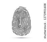 fingerprint vector icons... | Shutterstock .eps vector #1273901608