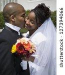 newlywed african american...   Shutterstock . vector #127394066