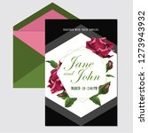 wedding invite  invitation menu ... | Shutterstock .eps vector #1273943932