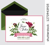 wedding invite  invitation menu ... | Shutterstock .eps vector #1273943935