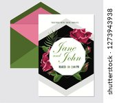 wedding invite  invitation menu ... | Shutterstock .eps vector #1273943938
