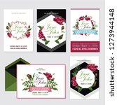 wedding invite  invitation menu ... | Shutterstock .eps vector #1273944148