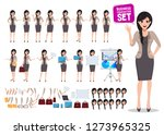 woman business character vector ... | Shutterstock .eps vector #1273965325