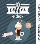 coffee poster template for... | Shutterstock .eps vector #1273966048
