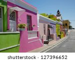 colourful cottages in a street... | Shutterstock . vector #127396652