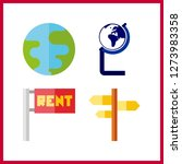 4 continent icon. vector...   Shutterstock .eps vector #1273983358