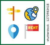 4 continent icon. vector...   Shutterstock .eps vector #1273983418