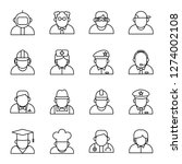 profession icons pack. isolated ... | Shutterstock .eps vector #1274002108