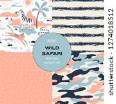 safari themed vector seamless... | Shutterstock .eps vector #1274018512