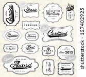 vector retro label set. easy to ... | Shutterstock .eps vector #127402925