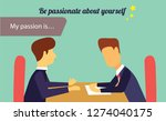be passionate explanatory... | Shutterstock .eps vector #1274040175