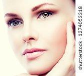 close up beauty girl face ... | Shutterstock . vector #1274053318