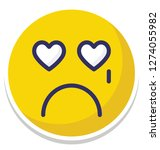 weeping  crying vector... | Shutterstock .eps vector #1274055982